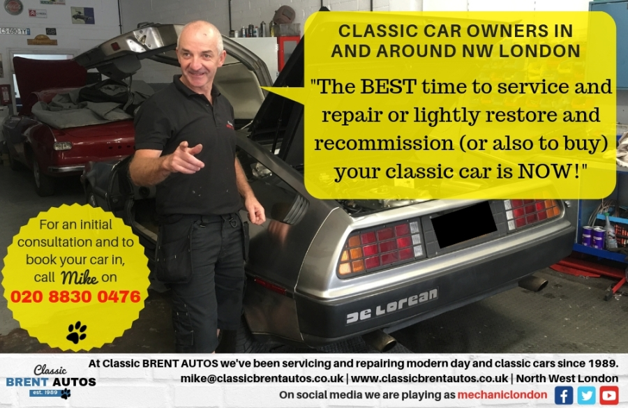 Classic car servicing and repairs by Classic Brent Autos